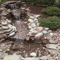 Искусственный камень. Водопад из искусственного камня